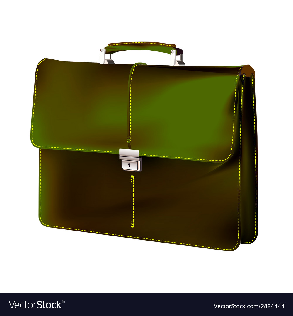 Brief case long shadow icon vector | Price: 1 Credit (USD $1)