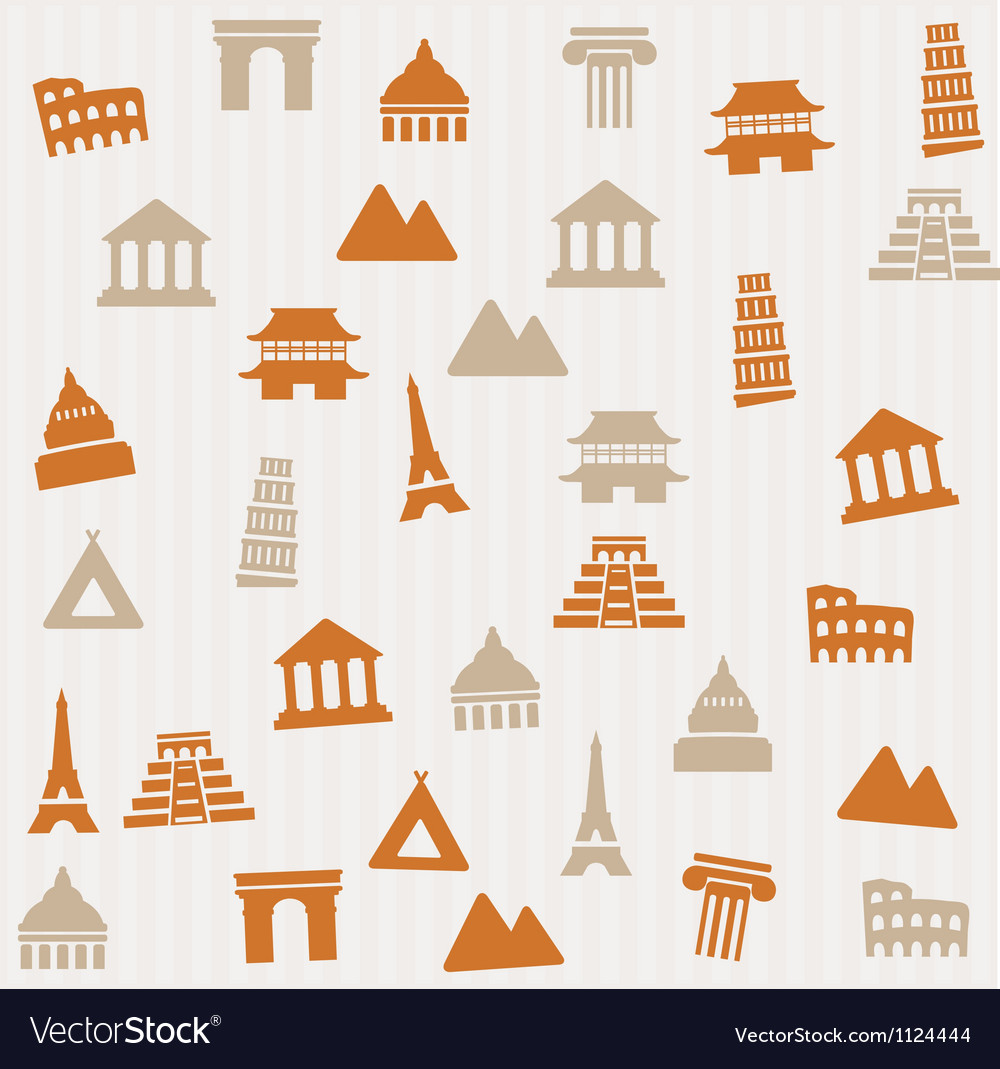 Building seamless pattern vector | Price: 1 Credit (USD $1)