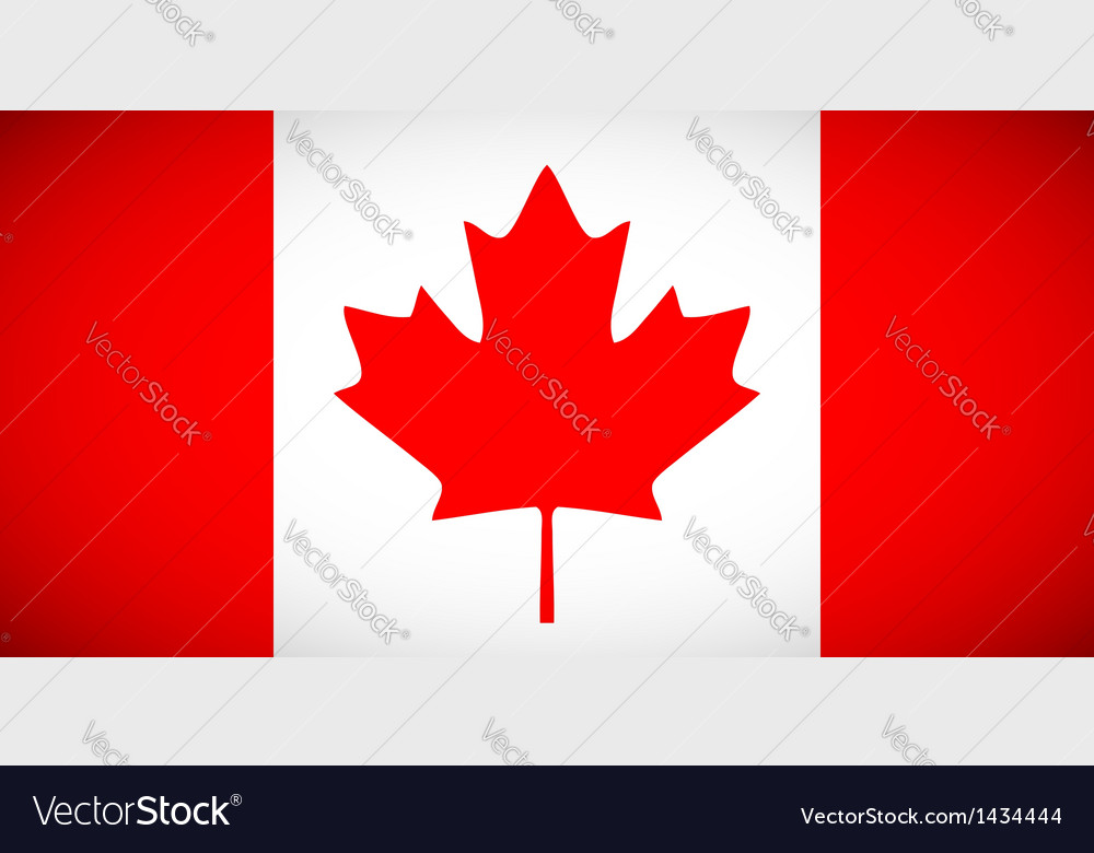 Canadian flag with correct proportions and color vector | Price: 1 Credit (USD $1)