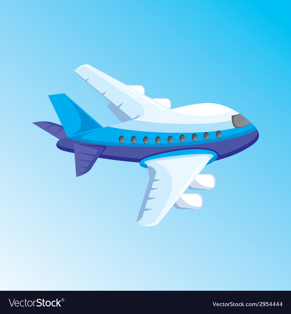 Cartoon with airplane vector | Price: 1 Credit (USD $1)