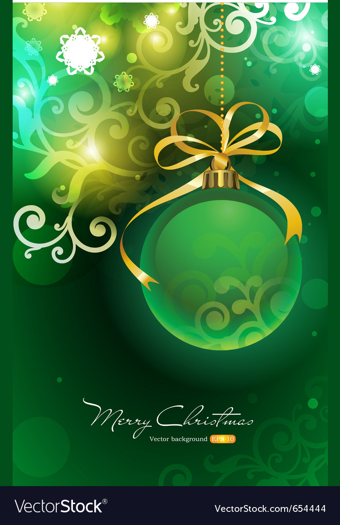 Christmas background with bauble vector | Price: 1 Credit (USD $1)