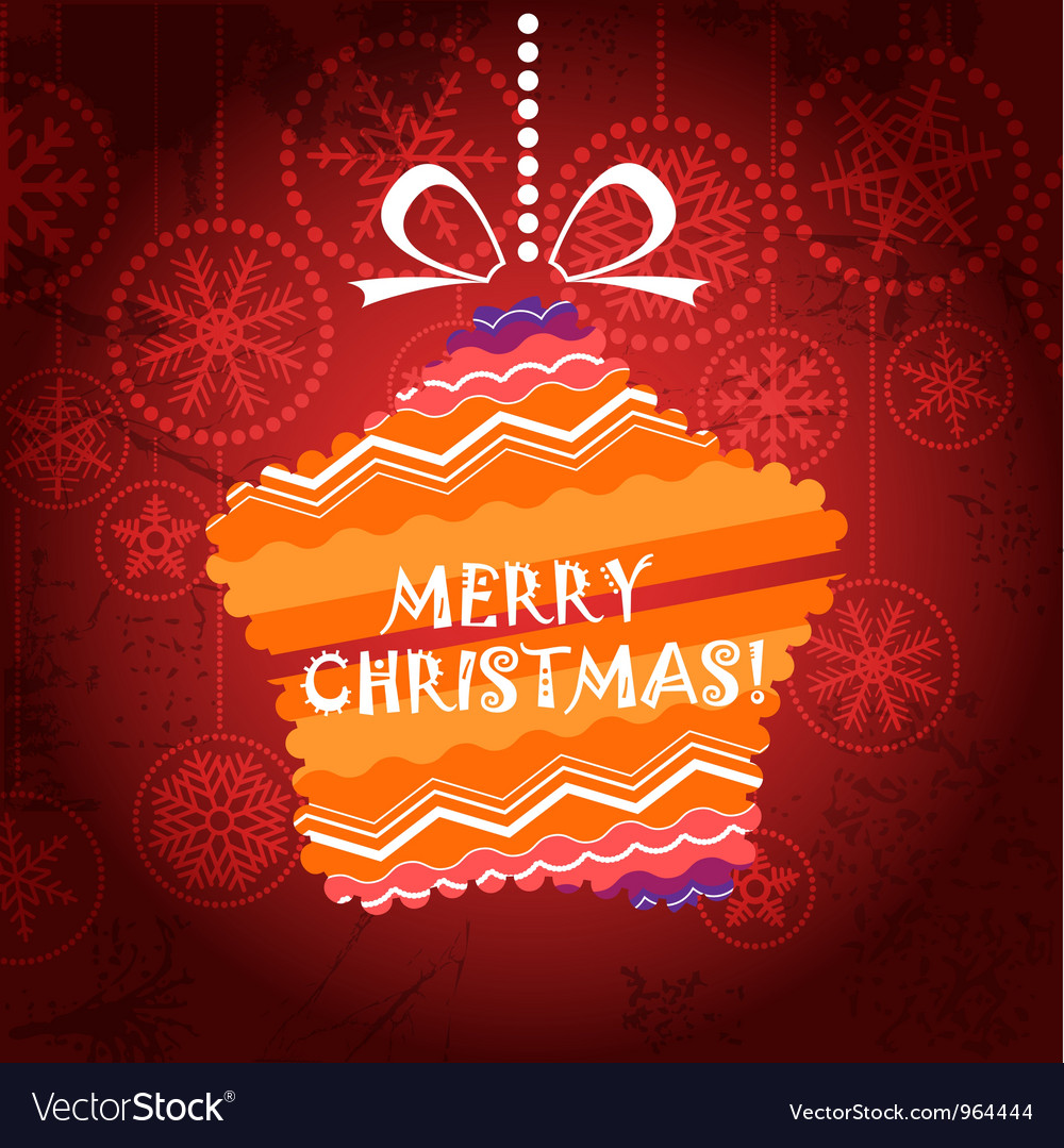 Christmas greeting card with ornamented star vector | Price: 1 Credit (USD $1)