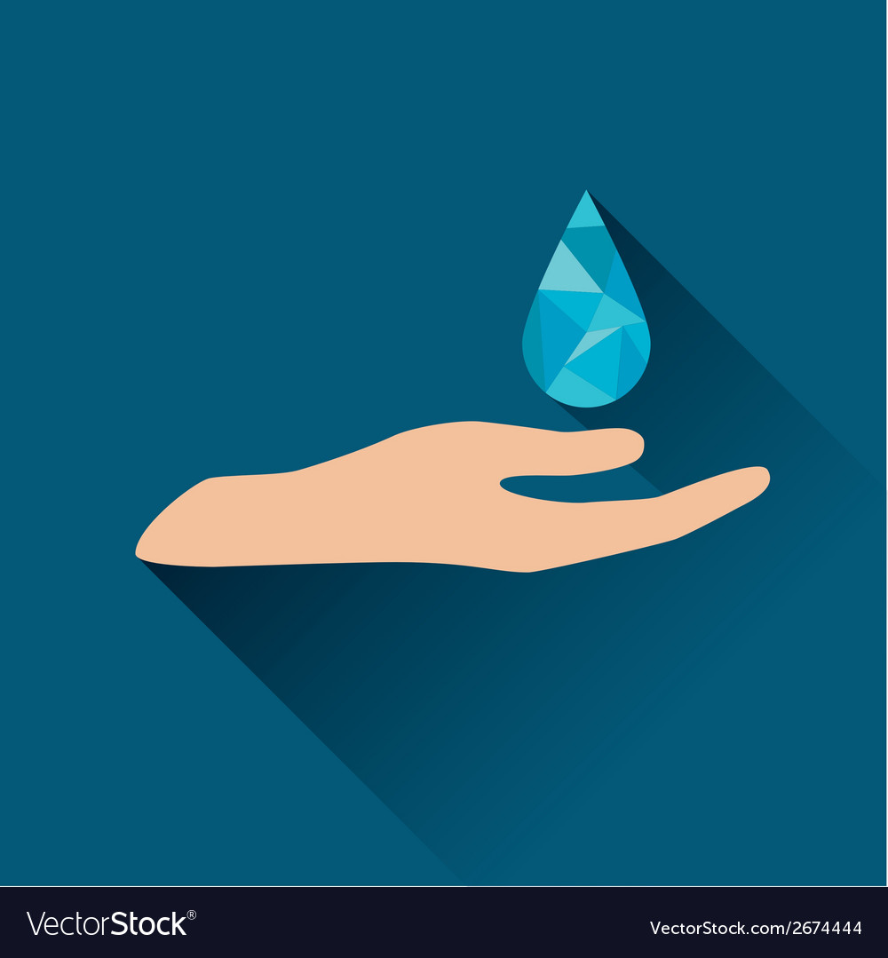 Drop over hand icon vector | Price: 1 Credit (USD $1)