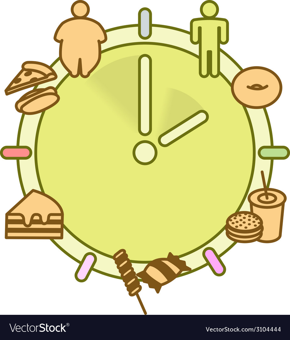 Eating hours and obesity vector | Price: 1 Credit (USD $1)
