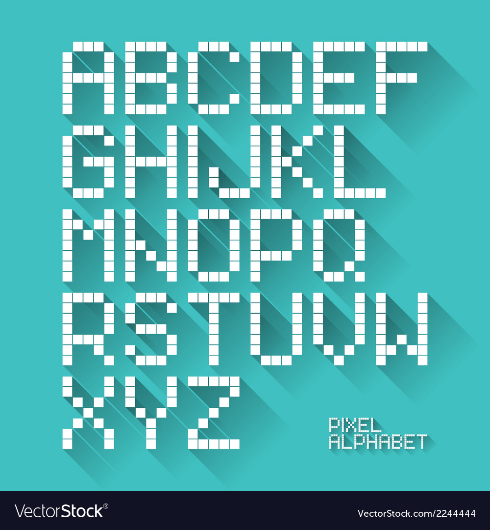 Flat design pixel alphabet vector | Price: 1 Credit (USD $1)