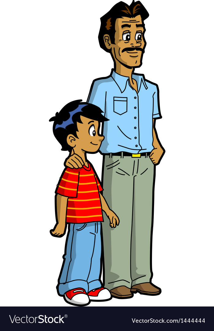Indian father and son vector | Price: 1 Credit (USD $1)