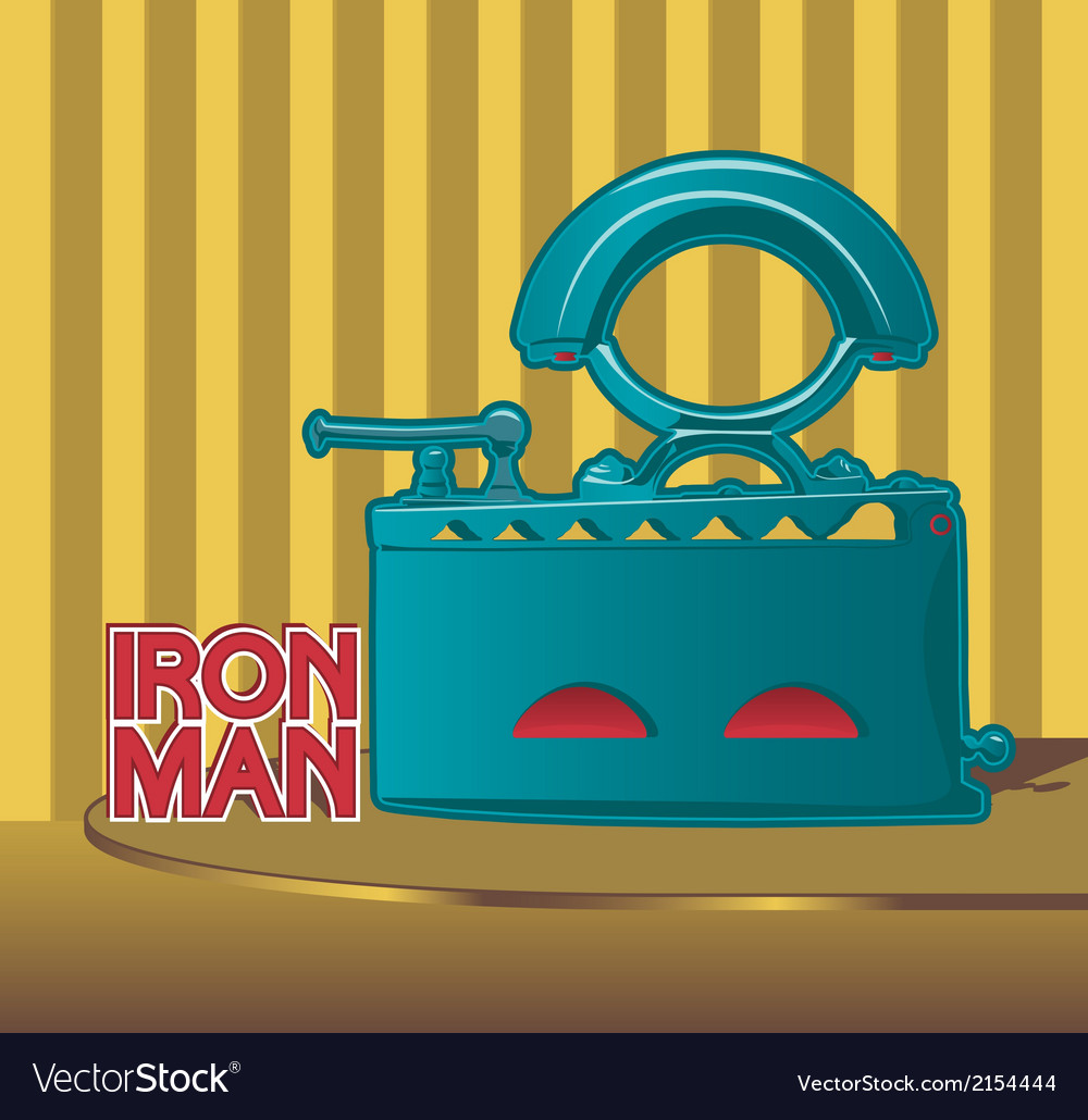 Retro smoothing iron poster design vector | Price: 1 Credit (USD $1)