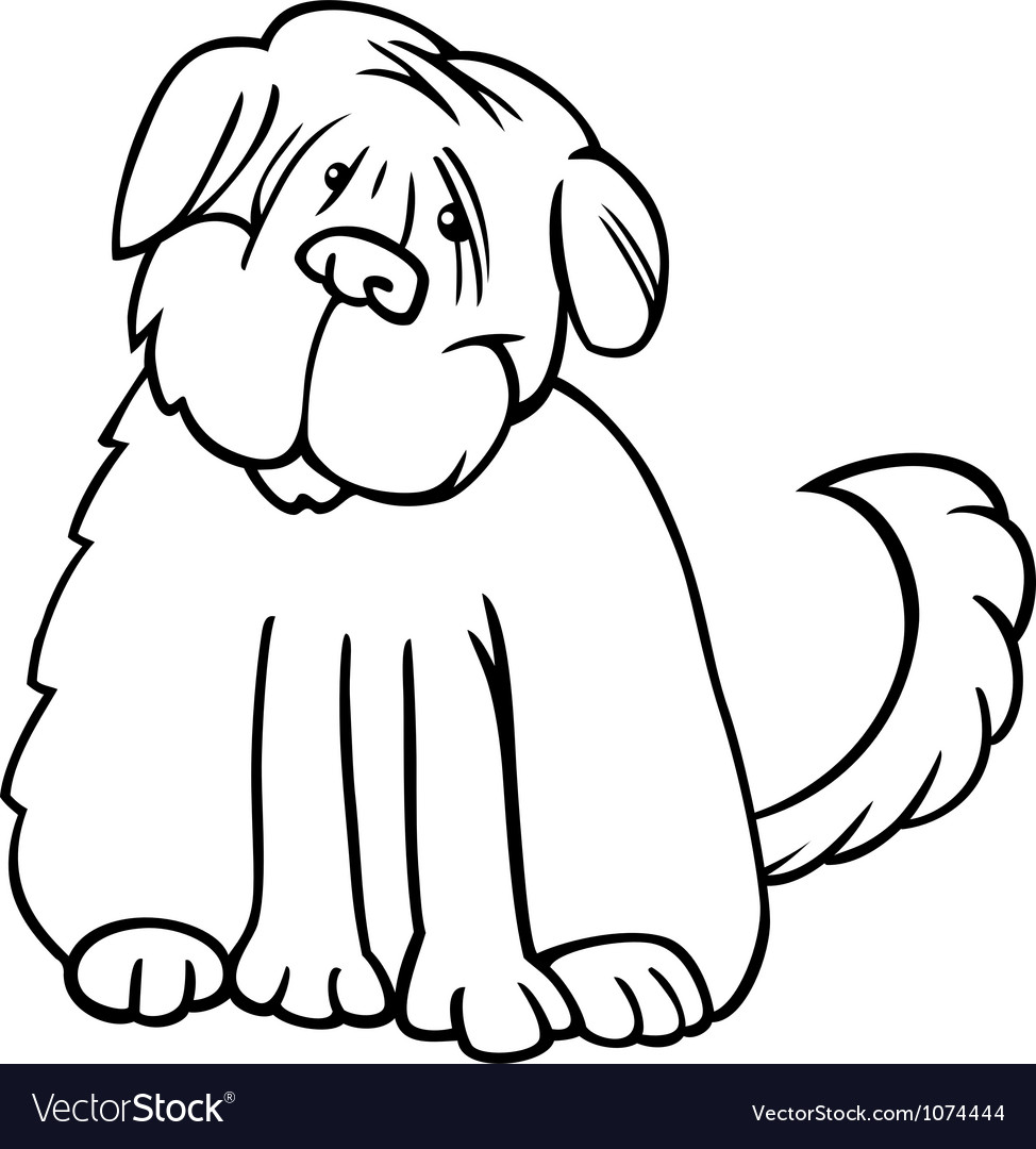 Shaggy terrier cartoon for coloring vector | Price: 1 Credit (USD $1)