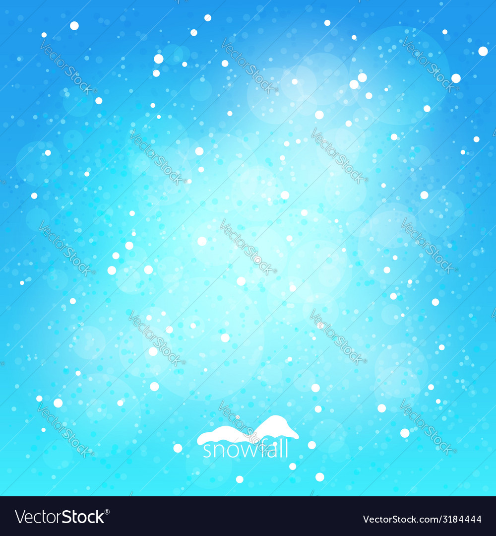 Snowfall abstract blue winter background vector | Price: 1 Credit (USD $1)