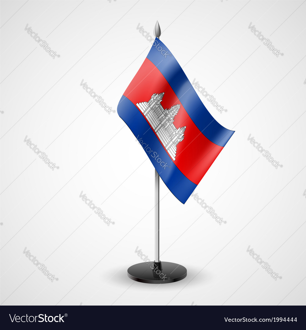 Table flag of cambodia vector | Price: 1 Credit (USD $1)