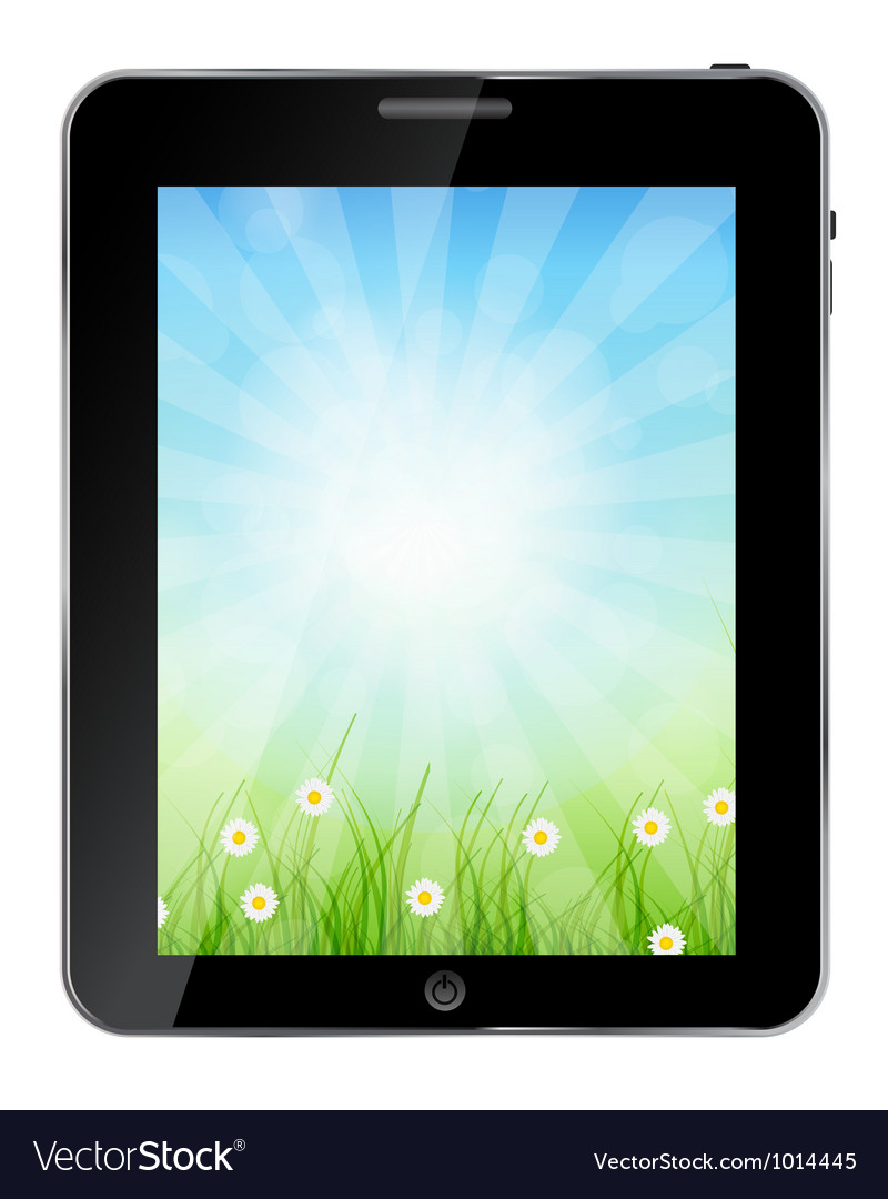 A ecologic tablet pc vector | Price: 1 Credit (USD $1)