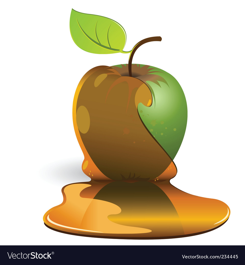 Apple and caramel vector | Price: 3 Credit (USD $3)