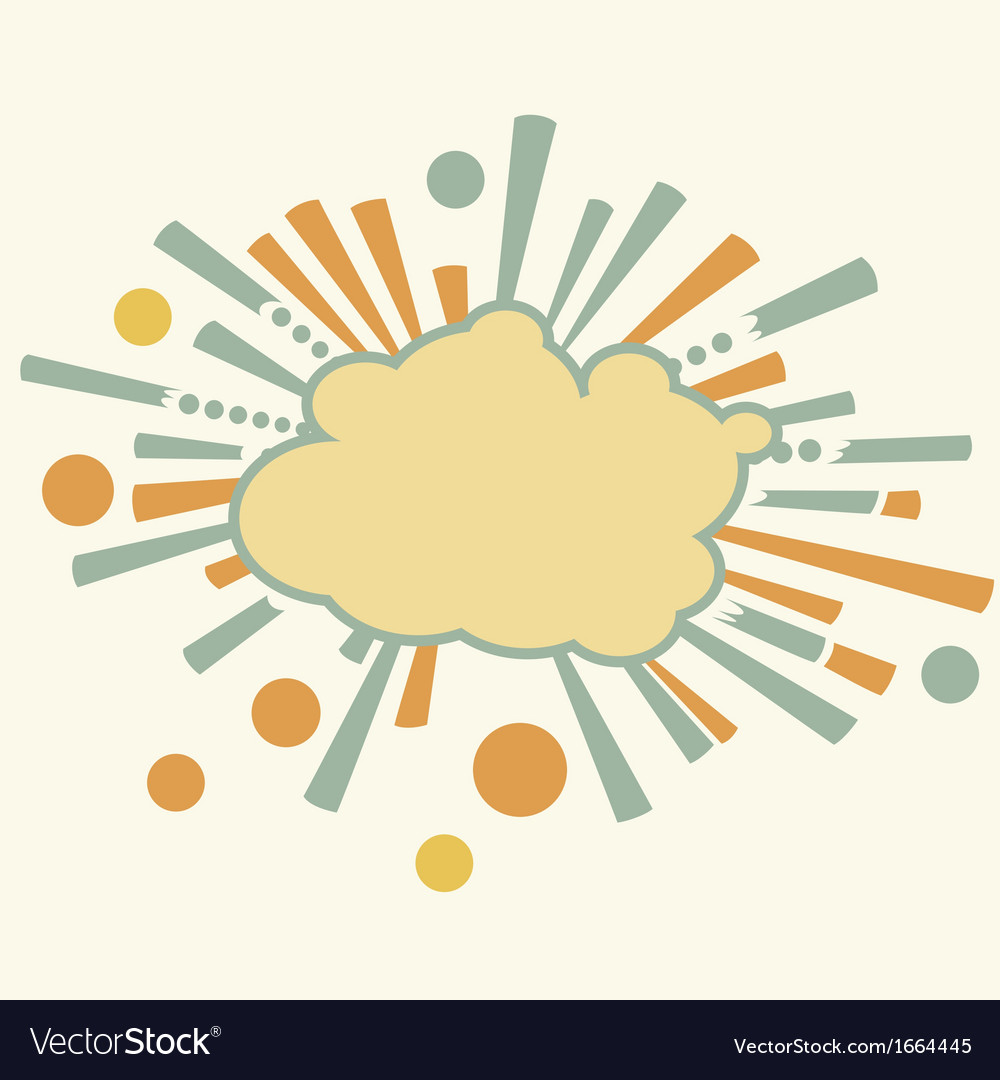 Burst and boom cloud in retro style vector | Price: 1 Credit (USD $1)
