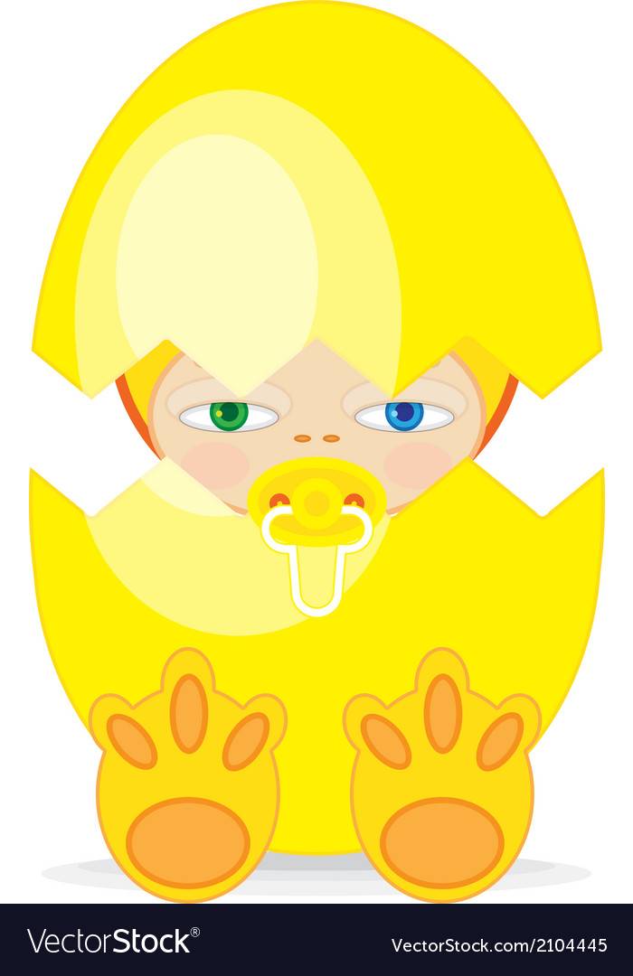 Easter baby begg vector | Price: 1 Credit (USD $1)