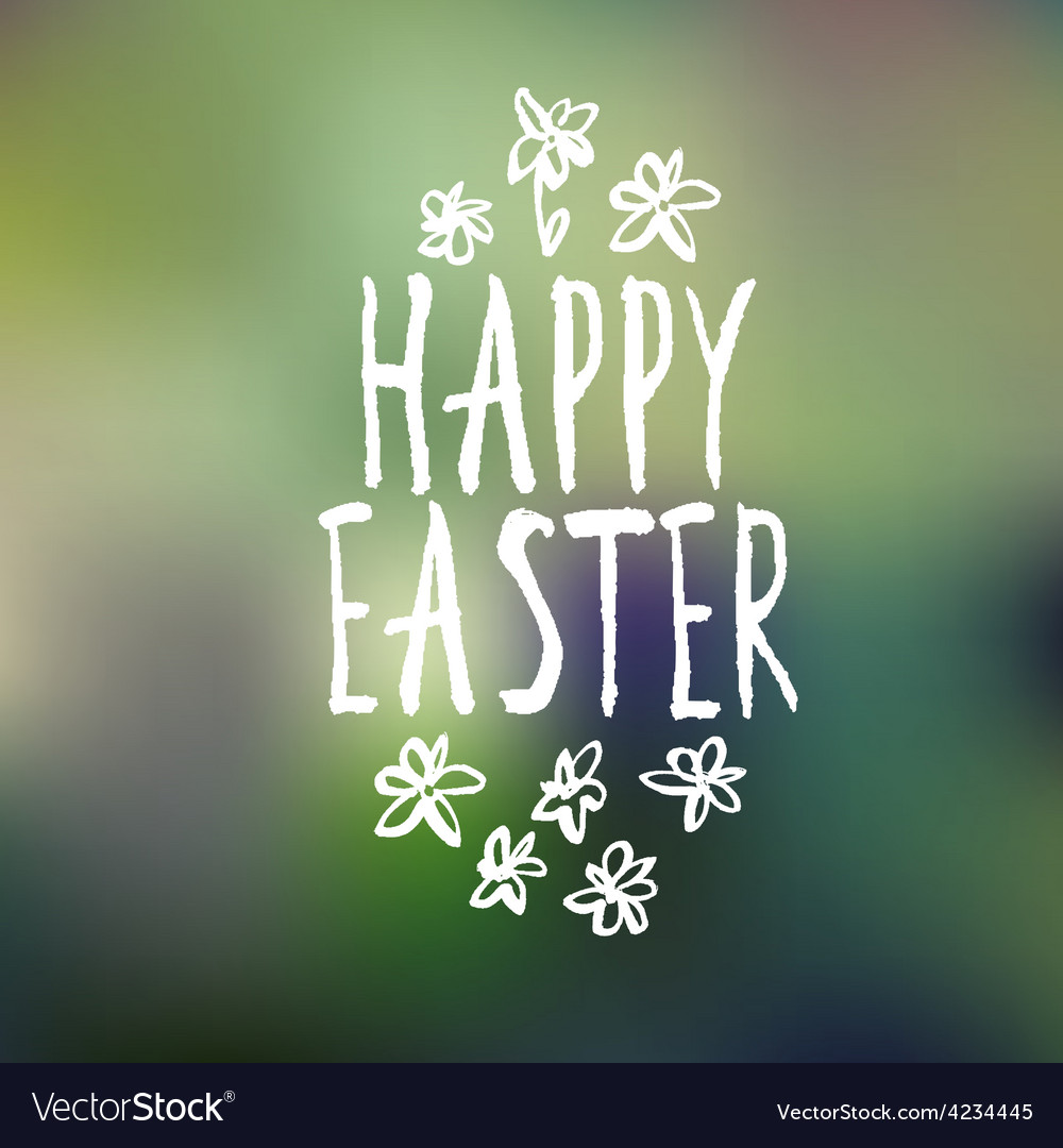 Easter greeting with bokeh background vector | Price: 1 Credit (USD $1)