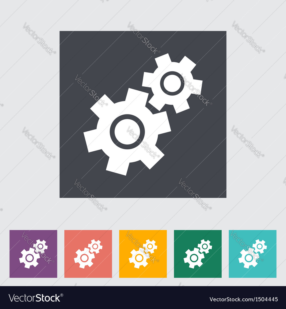 Gear icon vector | Price: 1 Credit (USD $1)