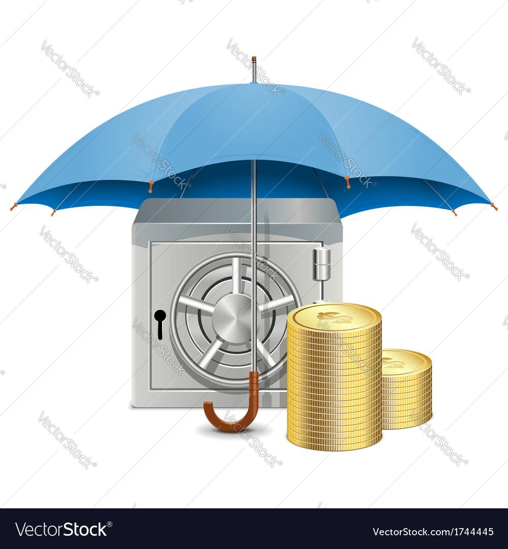 Umbrella and safe vector   Price: 1 Credit (USD $1)