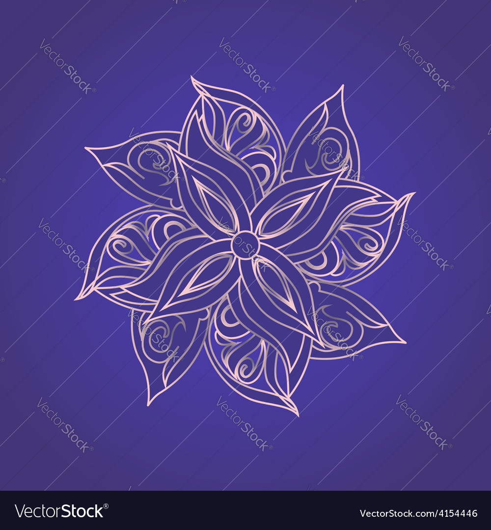 Abstract floral pattern against purple background vector | Price: 1 Credit (USD $1)