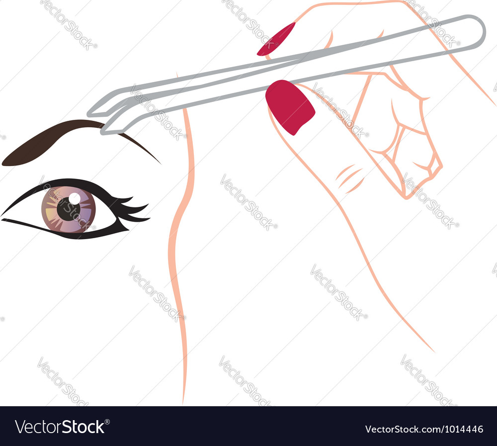 Curling eyebrows vector | Price: 1 Credit (USD $1)