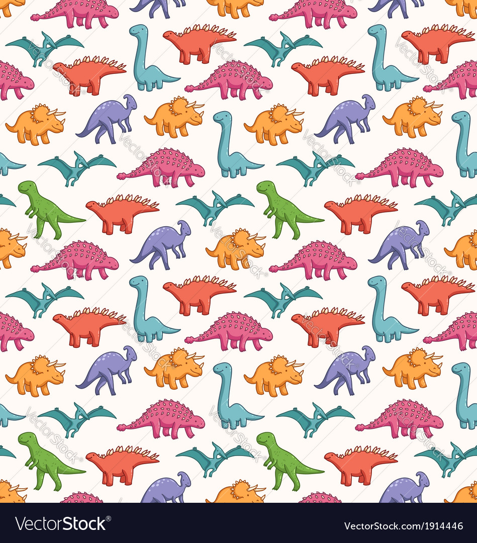 Cute dinosaurs pattern vector | Price: 1 Credit (USD $1)