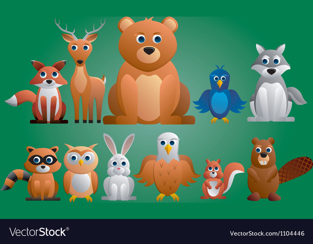 Forest animals vector | Price: 3 Credit (USD $3)