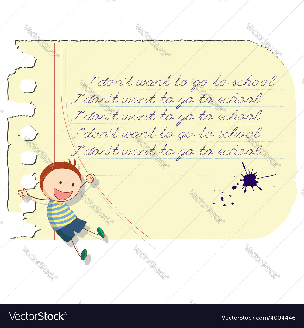 Funny school boy vector | Price: 1 Credit (USD $1)