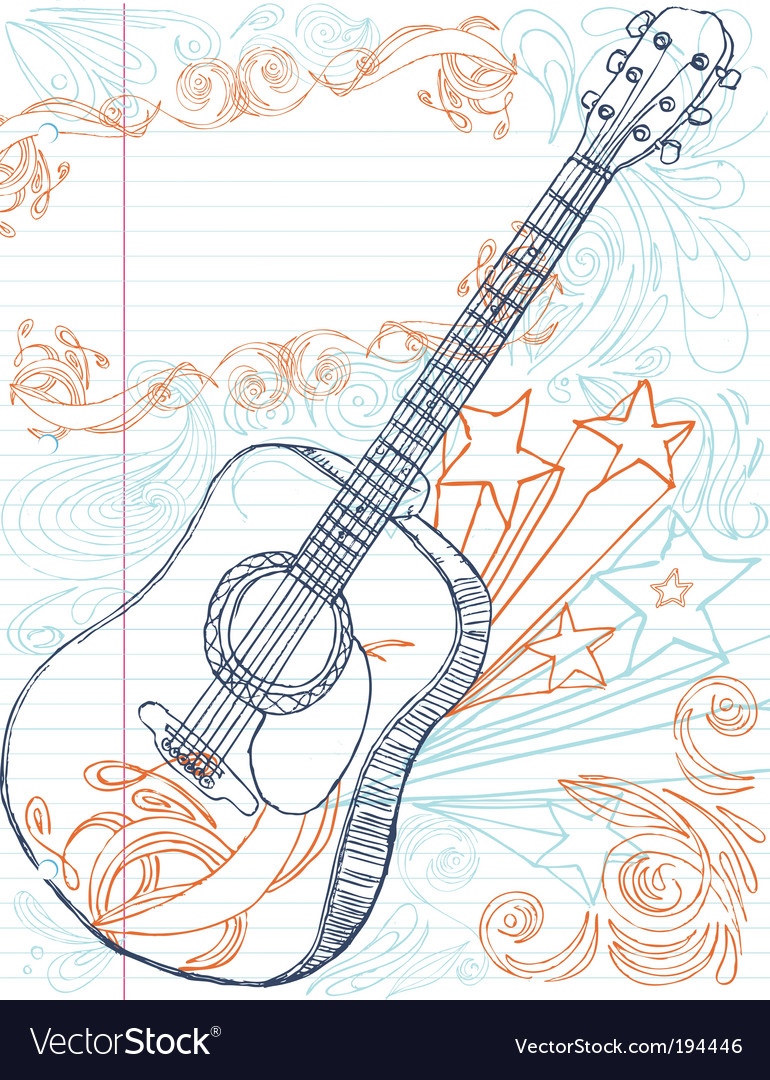 Guitar with text area vector | Price: 1 Credit (USD $1)