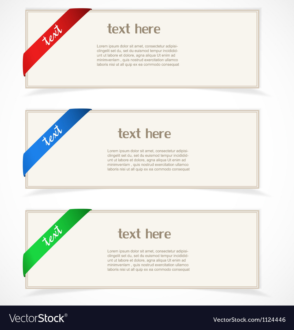 Paper banners vector | Price: 1 Credit (USD $1)