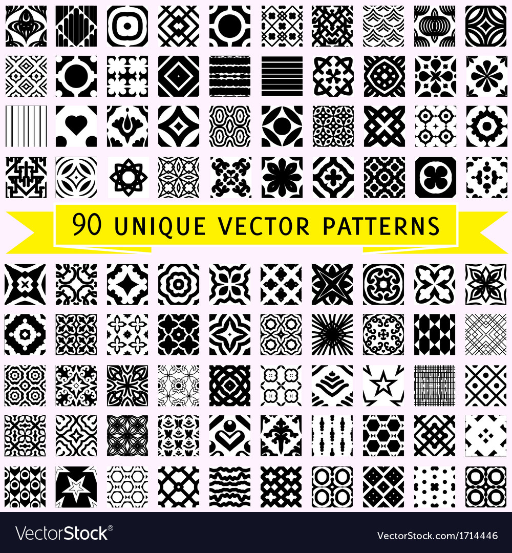 Set of ninety patterns vector | Price: 1 Credit (USD $1)