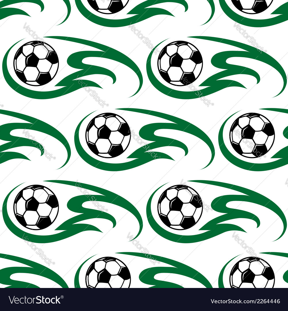 Soccer ball seamless pattern vector | Price: 1 Credit (USD $1)