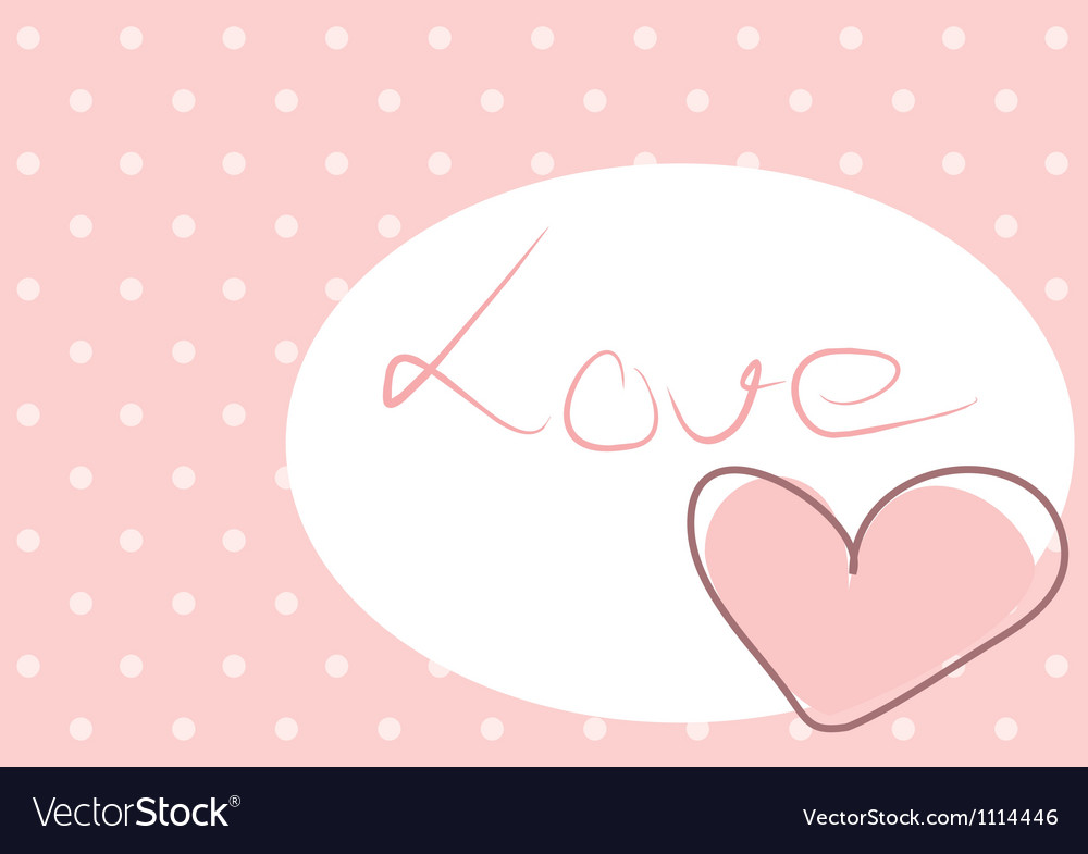 Sweet love - pink heart with polka dots background vector | Price: 1 Credit (USD $1)
