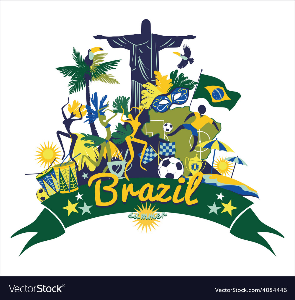 Traditional brazilian items vector | Price: 3 Credit (USD $3)