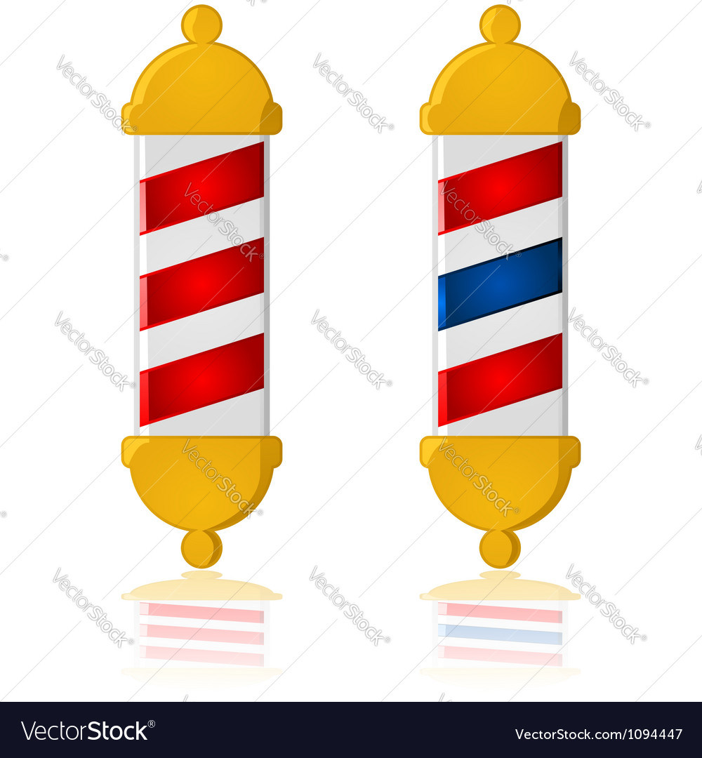 Barber poles vector | Price: 1 Credit (USD $1)