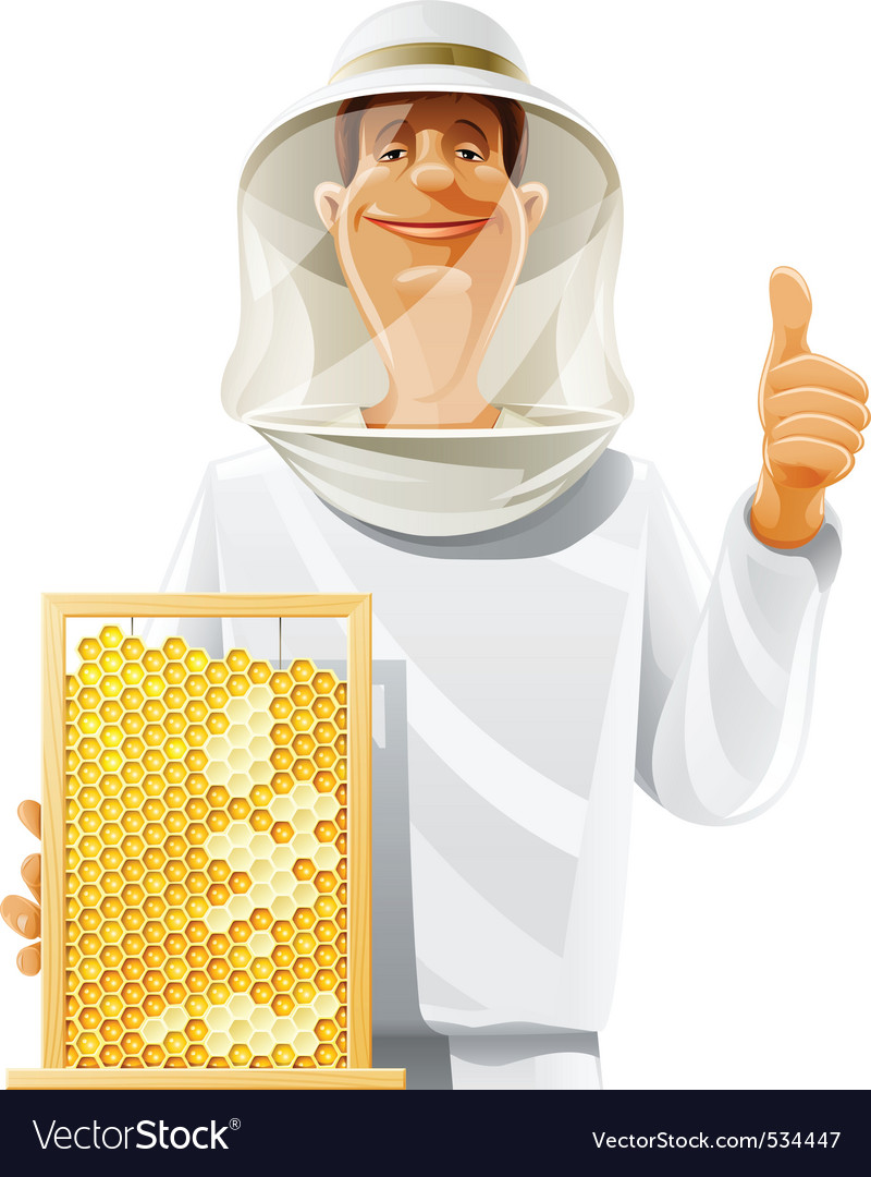 Beekeeper with bee hive vector | Price: 5 Credit (USD $5)