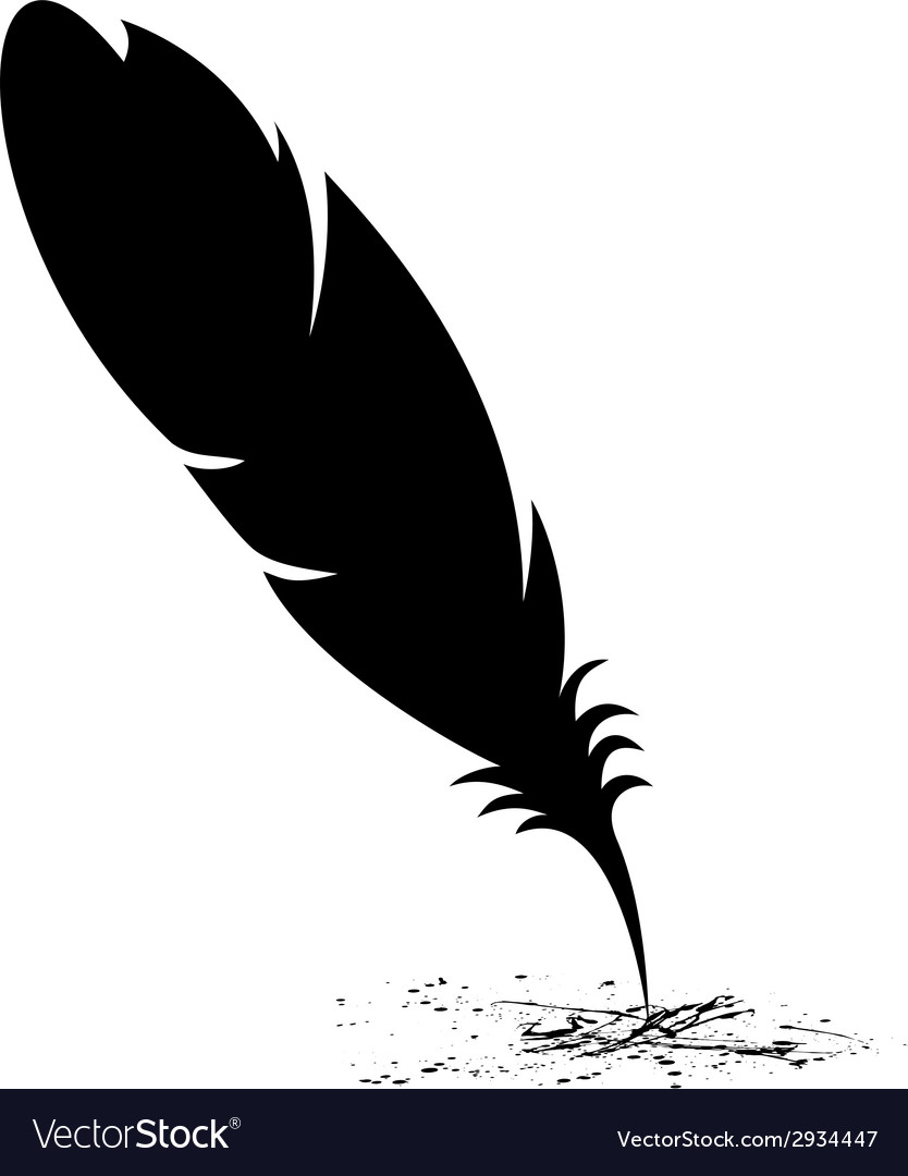 Feather blots vector | Price: 1 Credit (USD $1)