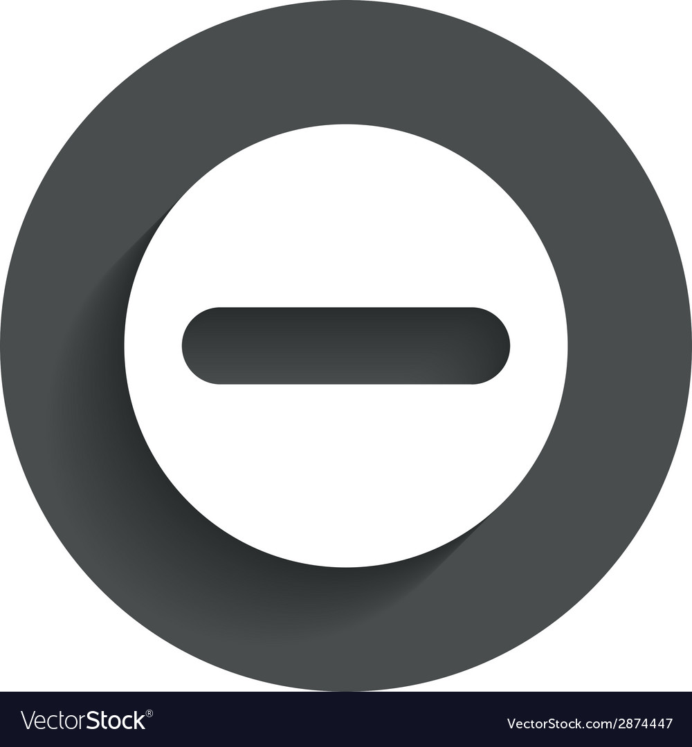 Minus sign icon negative symbol vector   Price: 1 Credit (USD $1)