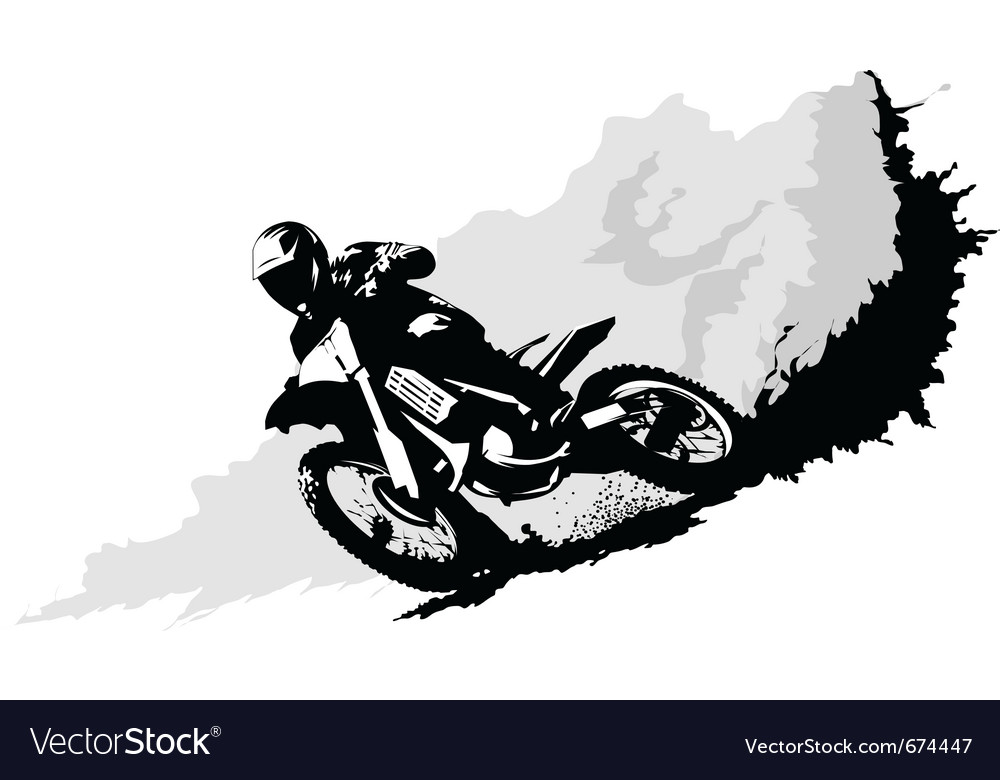 Motorcross vector | Price: 1 Credit (USD $1)