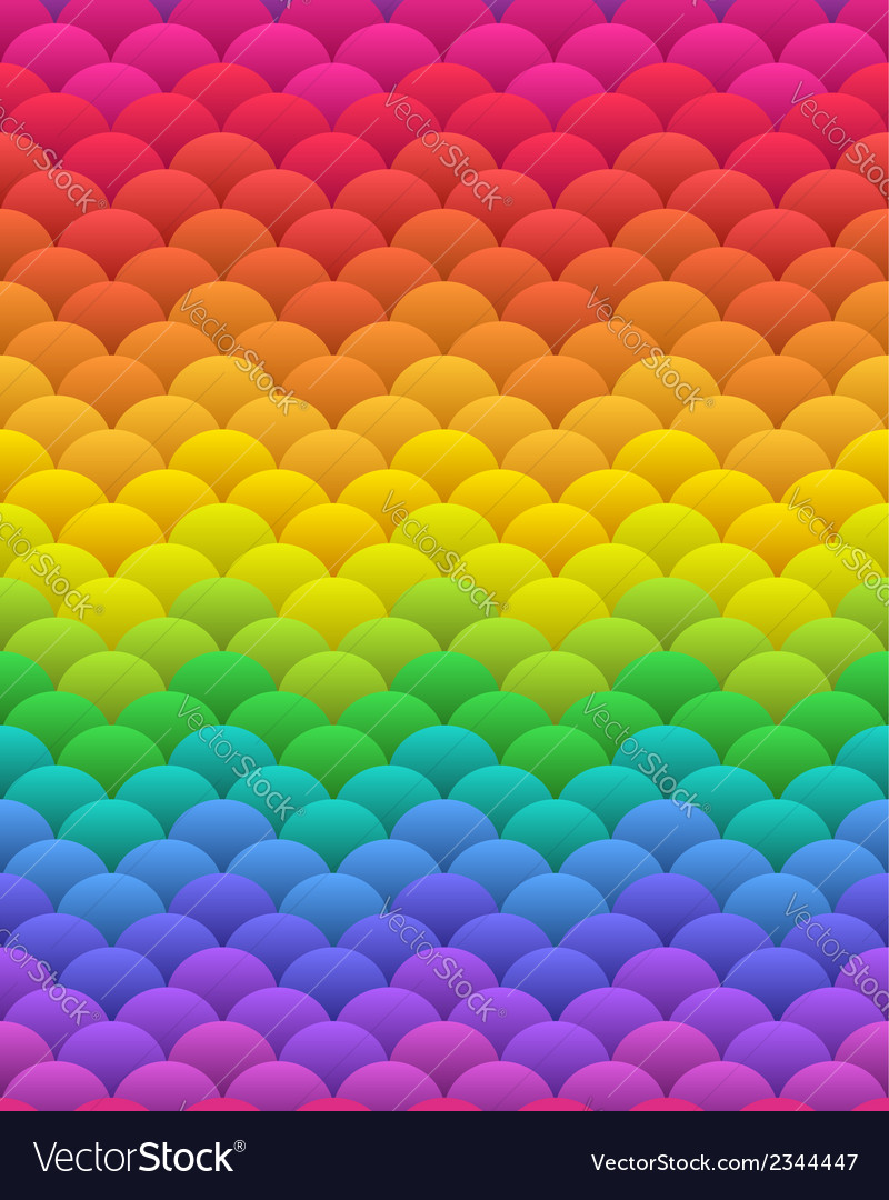 Rainbow blobs seamless vector | Price:  Credit (USD $)