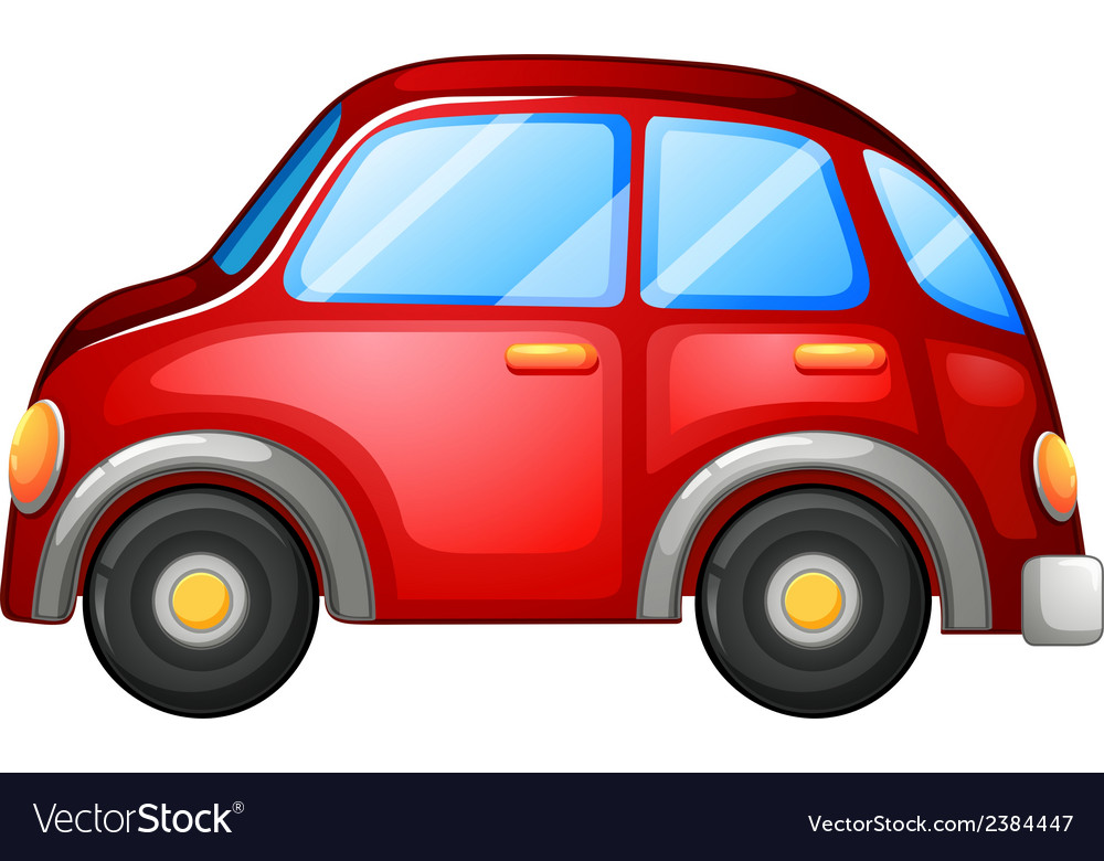 Red car cartoon vector | Price: 1 Credit (USD $1)