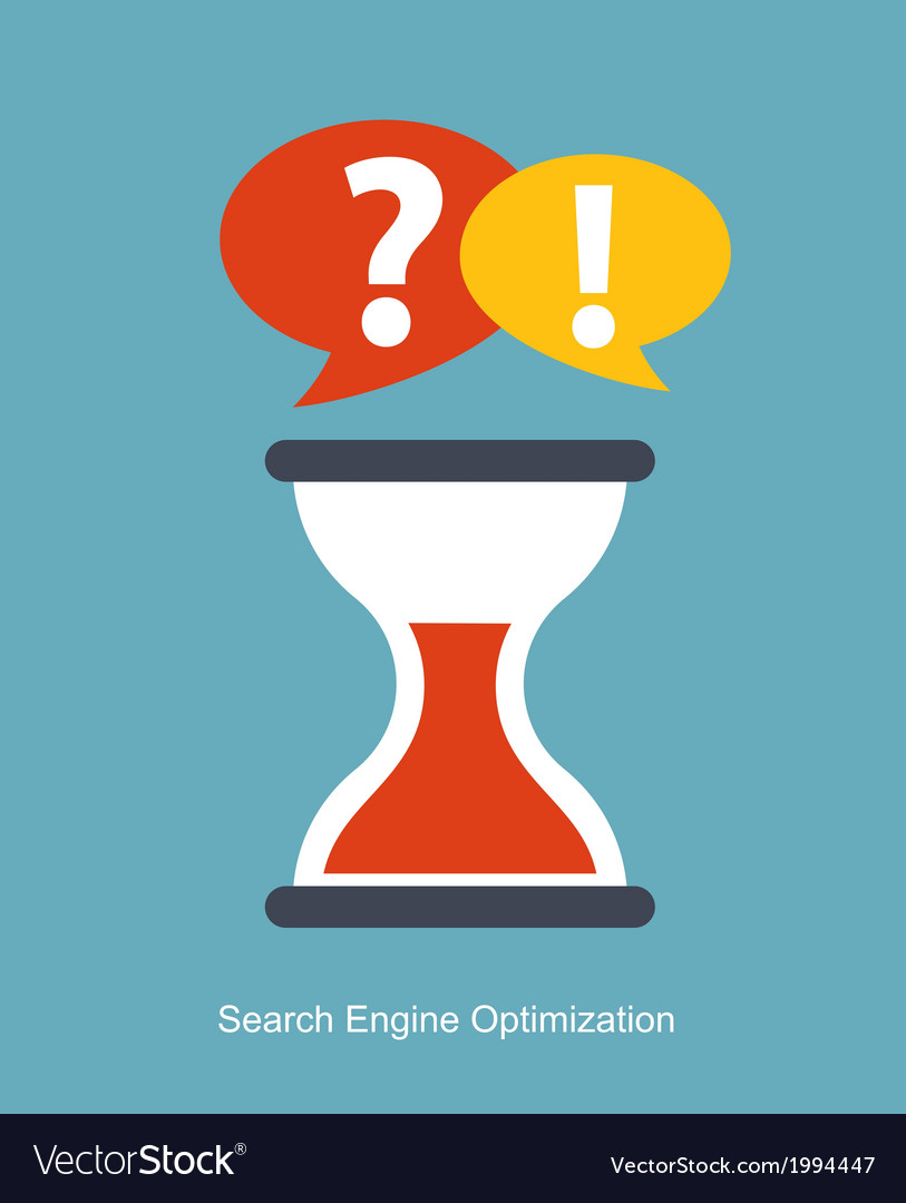 Seo - search engine optimization flat icon vector | Price: 1 Credit (USD $1)
