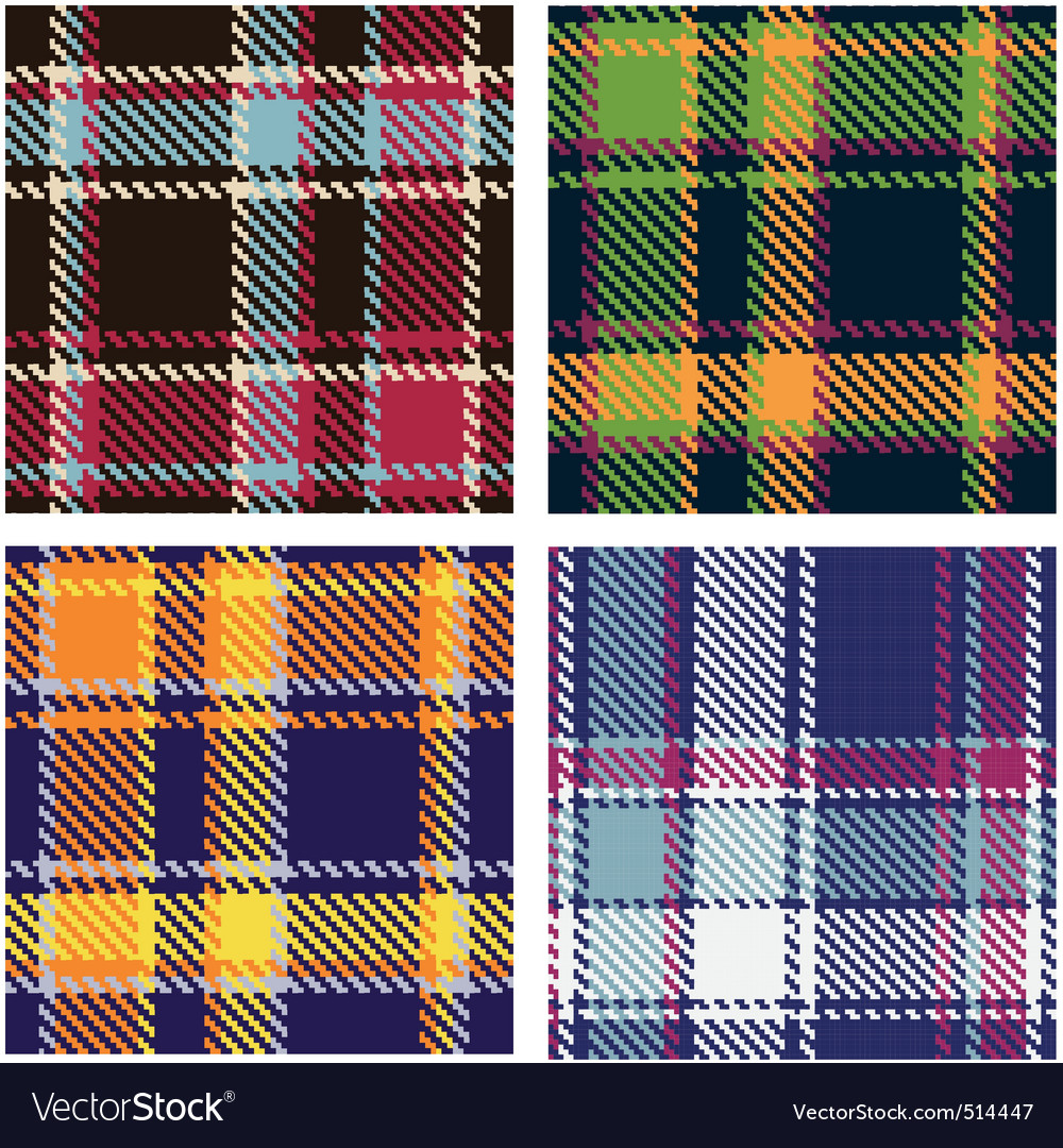 Tartan patterns vector | Price: 1 Credit (USD $1)