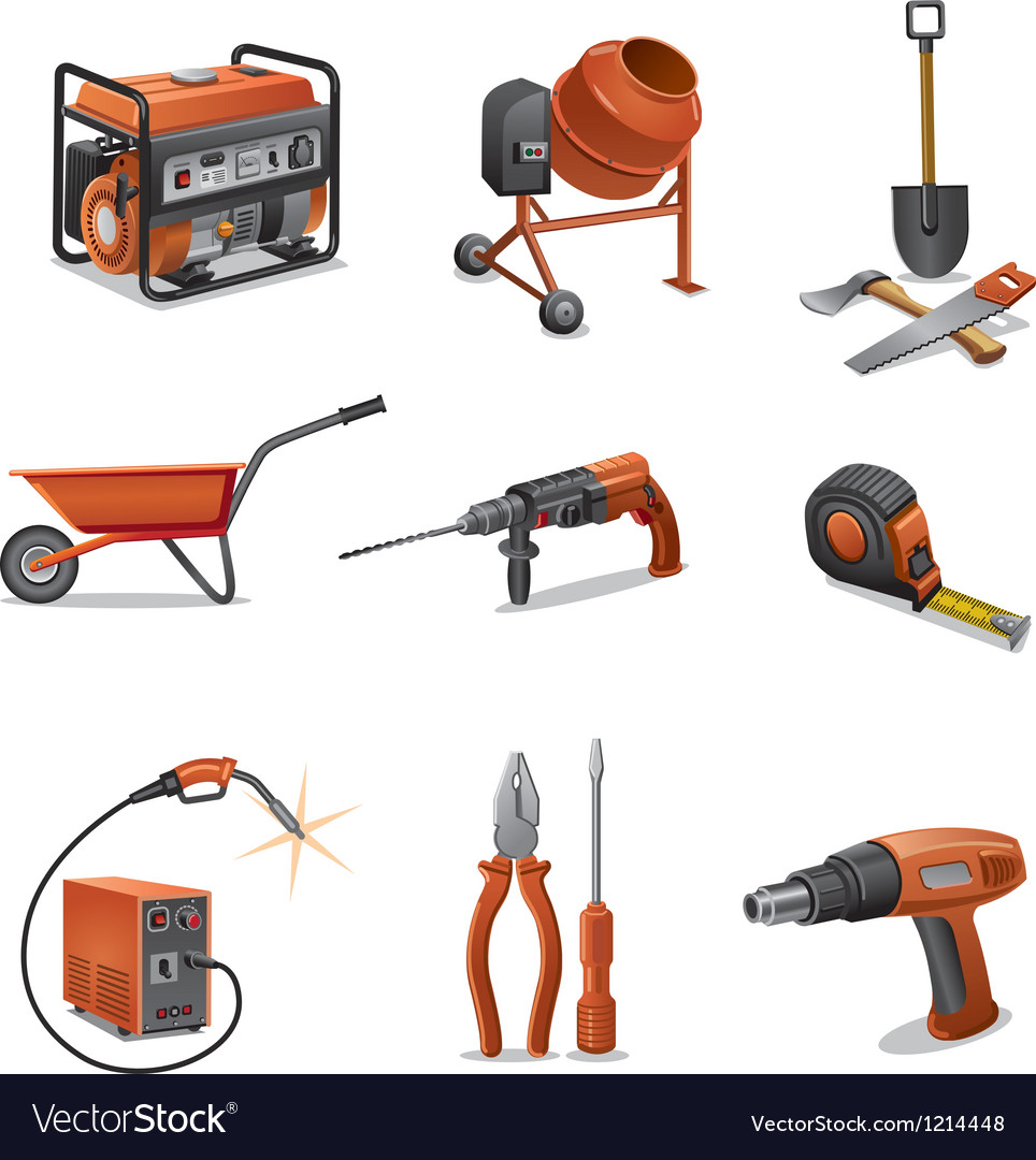Constructions tools icons vector | Price: 1 Credit (USD $1)