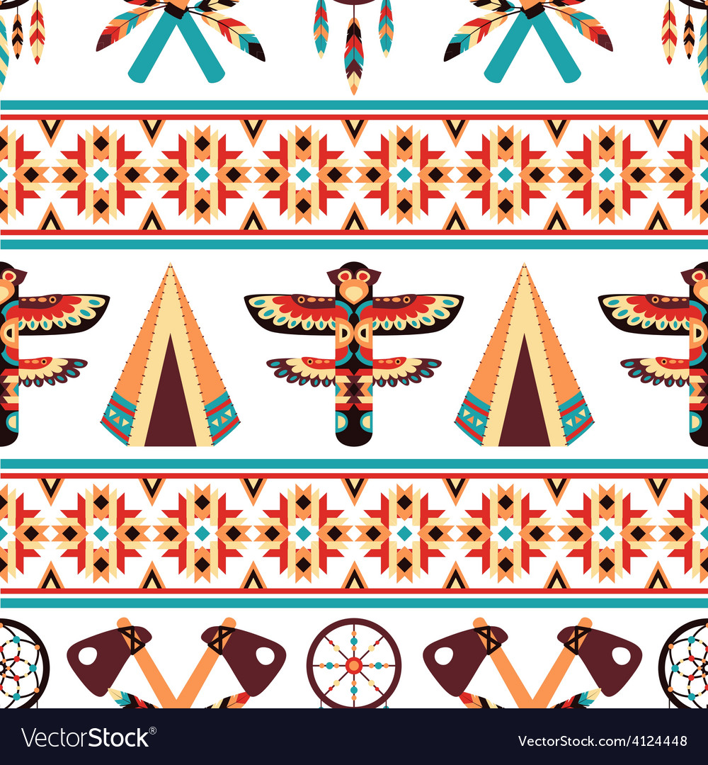Ethnic border pattern design vector | Price: 1 Credit (USD $1)
