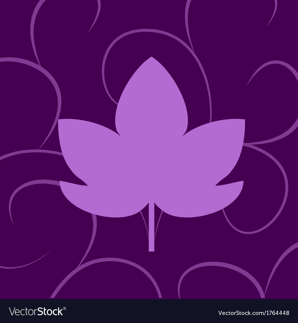 Leaf of grape violet vector | Price: 1 Credit (USD $1)