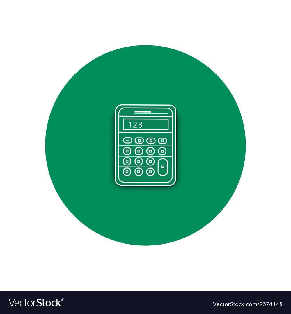 Line icon of calculator vector | Price: 1 Credit (USD $1)