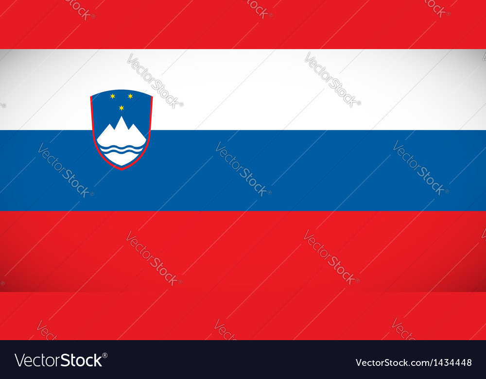 National flag of slovenia vector | Price: 1 Credit (USD $1)