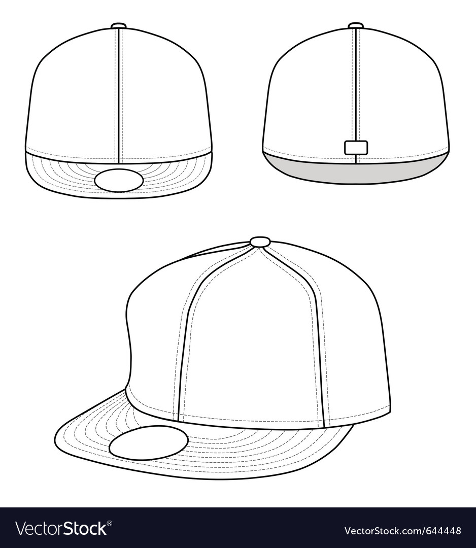 Rap cap vector | Price: 1 Credit (USD $1)