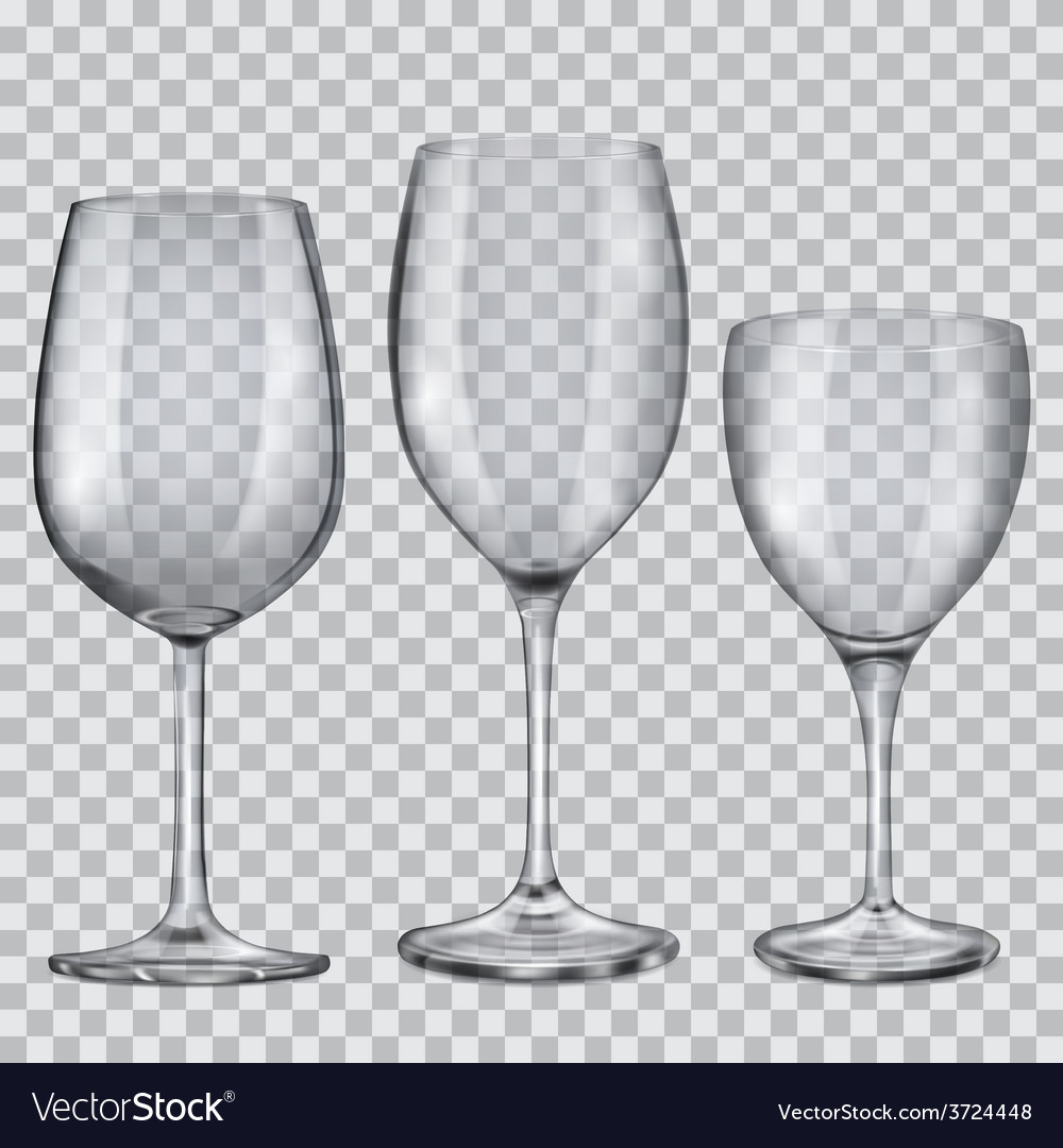Transparent empty glass goblets for wine vector | Price: 1 Credit (USD $1)