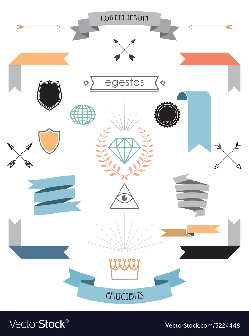 Vintage elements vector | Price: 1 Credit (USD $1)