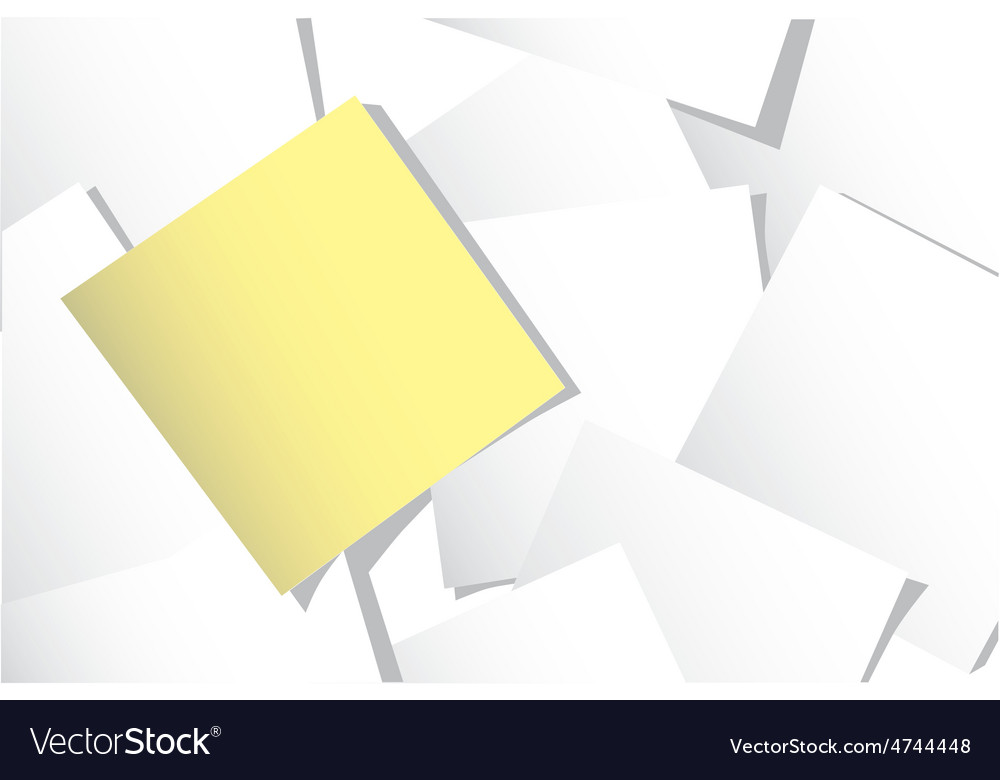 Yellow sticky note vector | Price: 1 Credit (USD $1)